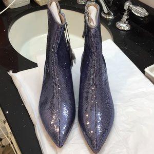 NWT Zara Sequin Booties.